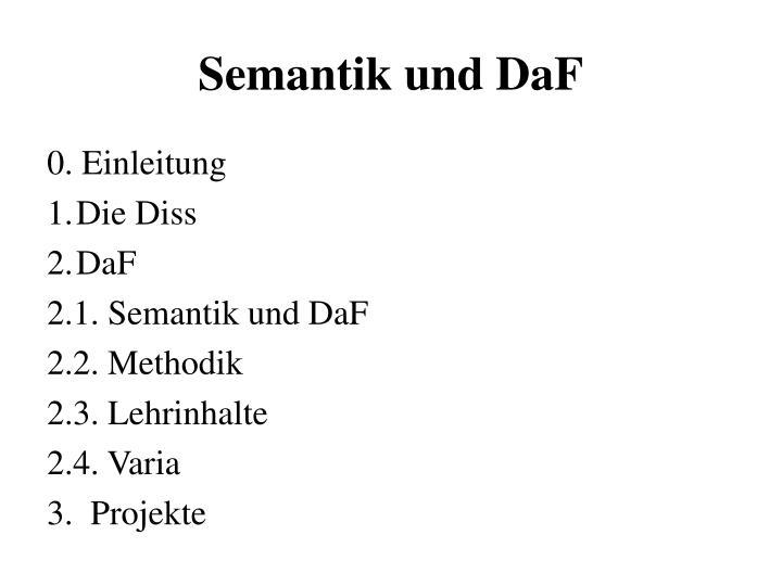 Semantik und DaF