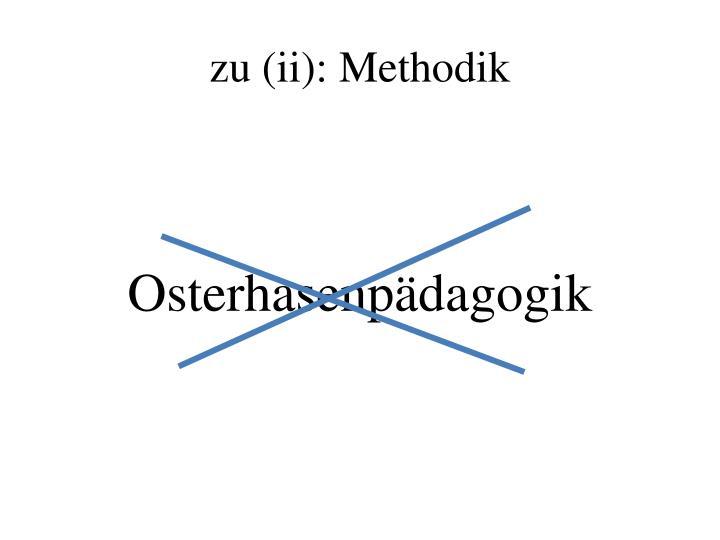 zu (ii): Methodik
