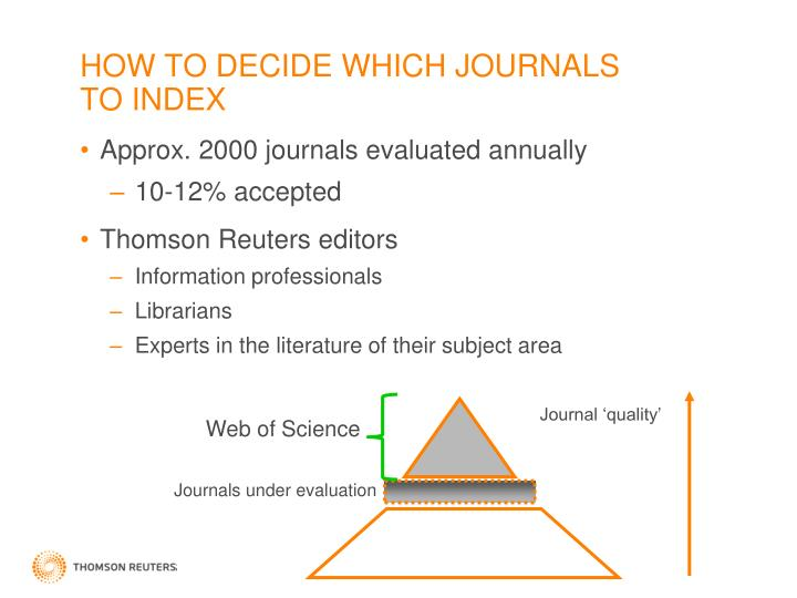 HOW TO DECIDE WHICH JOURNALS