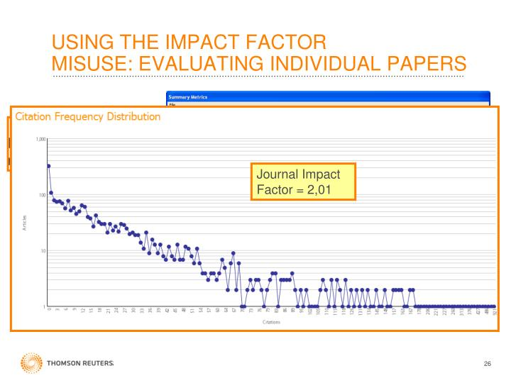 USING THE IMPACT FACTOR