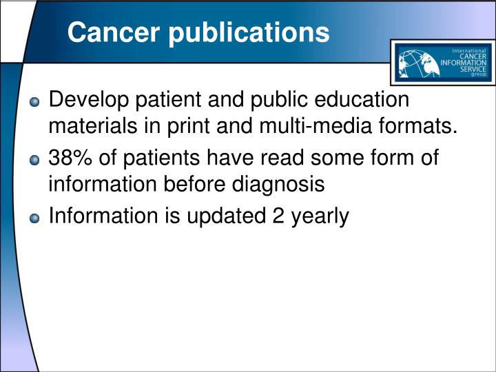 Cancer publications