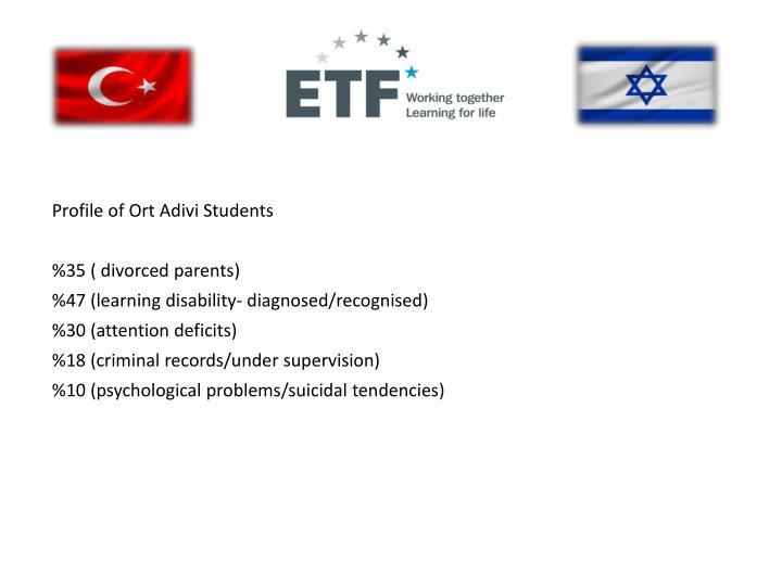Profile of Ort Adivi Students