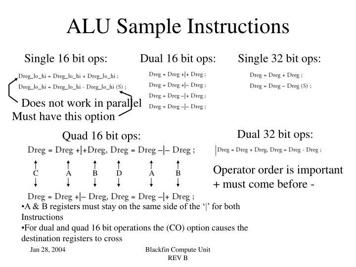 Quad 16 bit ops: