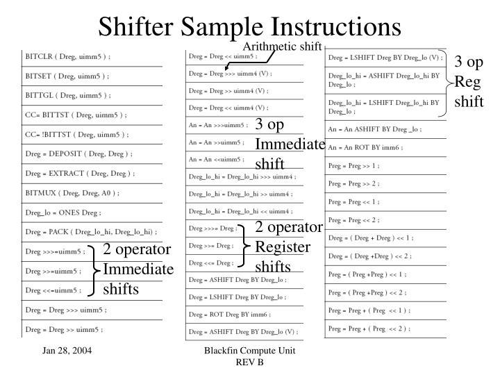 Arithmetic shift