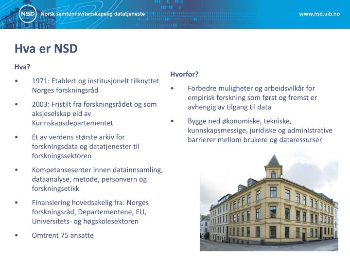 Hva er NSD