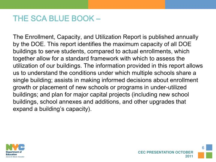 THE SCA BLUE BOOK –