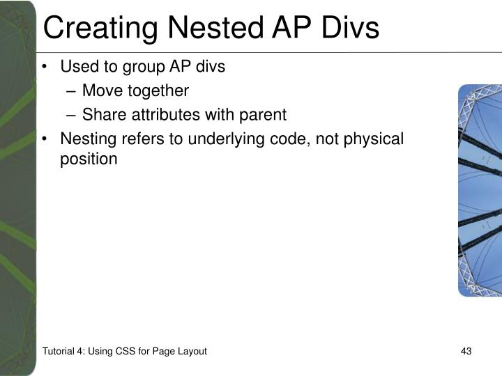 Creating Nested AP Divs