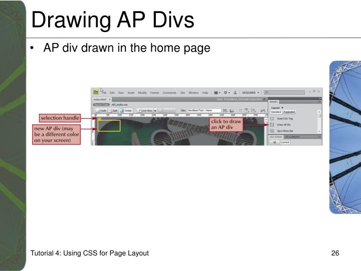 Drawing AP Divs