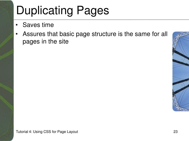 Duplicating Pages