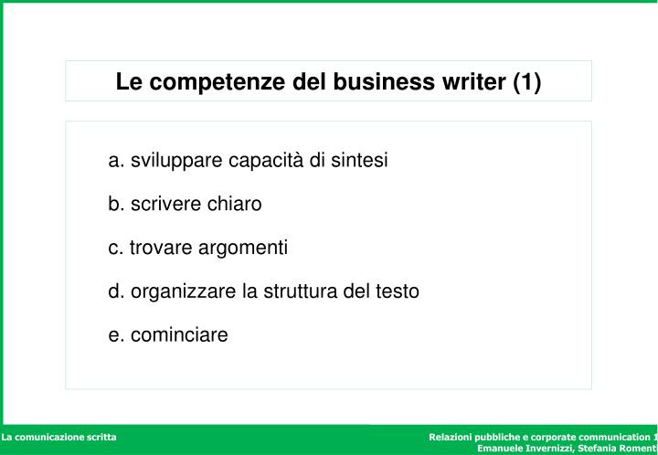 Le competenze del business writer (1)