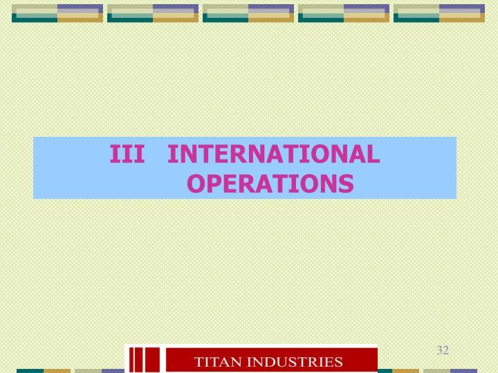 III   INTERNATIONAL