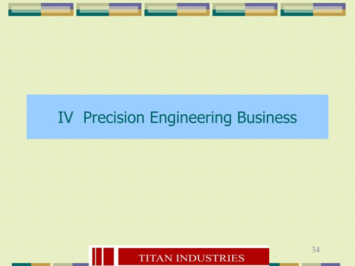 IV  Precision Engineering Business