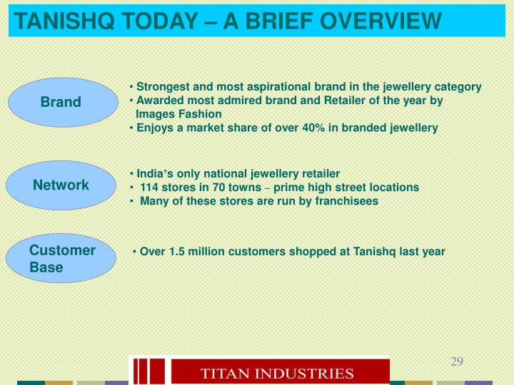 TANISHQ TODAY – A BRIEF OVERVIEW