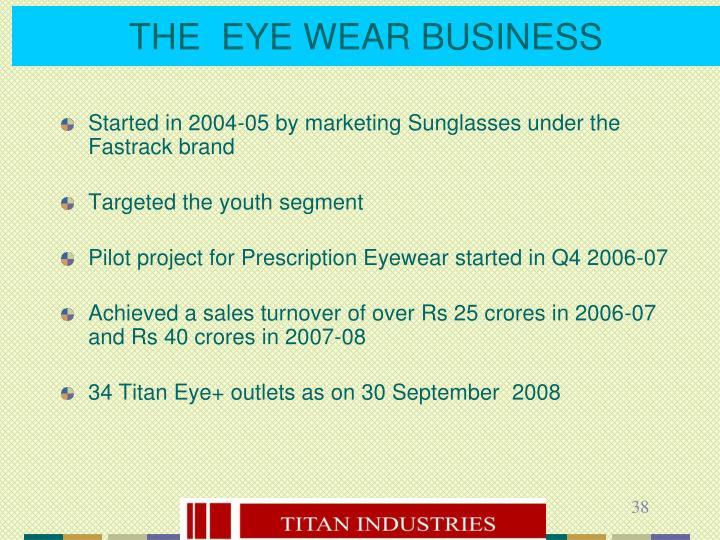 THE  EYE WEAR BUSINESS