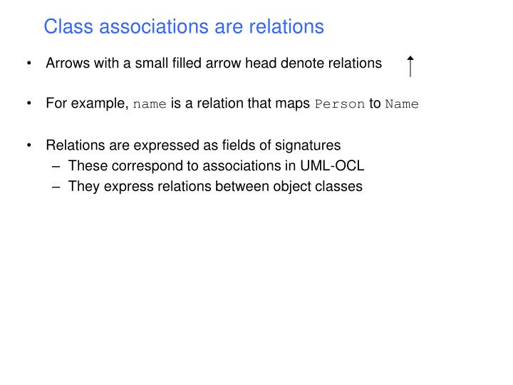 Class associations are relations
