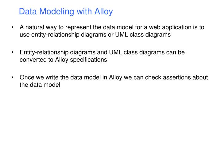Data Modeling with Alloy