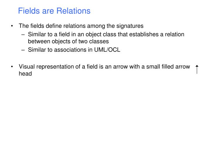 Fields are Relations