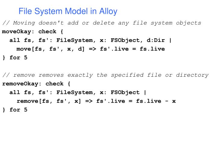 File System Model in Alloy