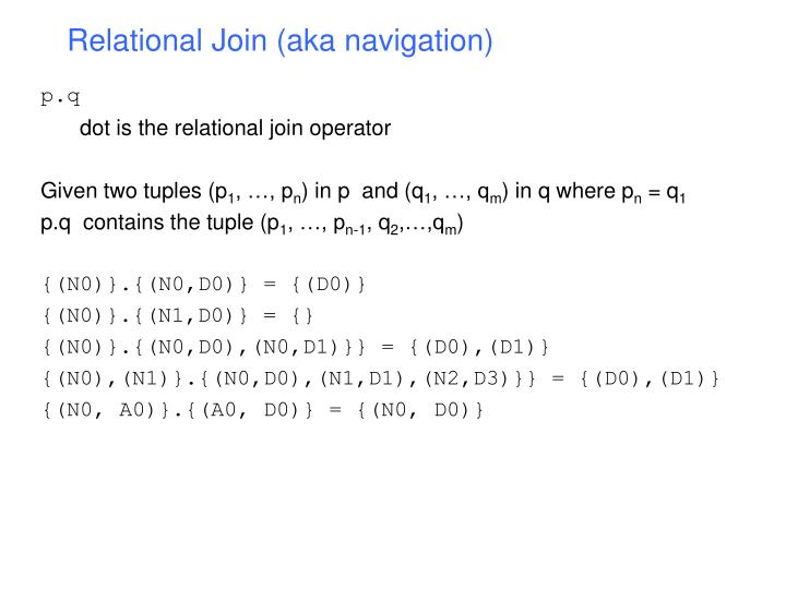 Relational Join (aka navigation)