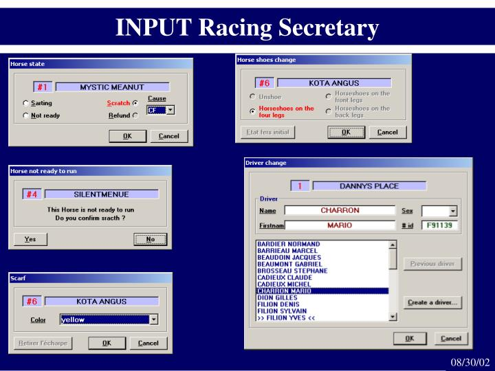 INPUT Racing Secretary