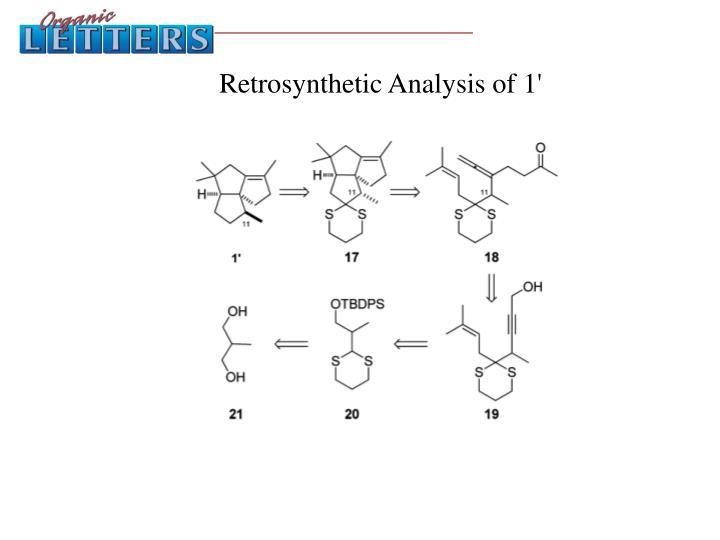 Retrosynthetic Analysis of 1'