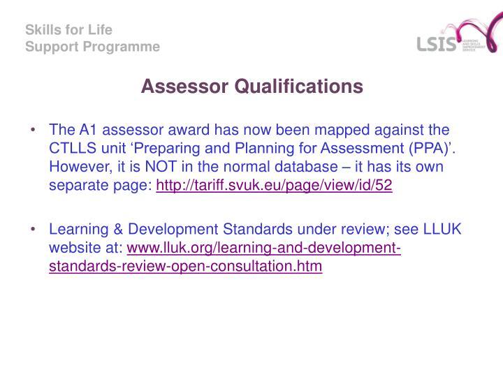 Assessor Qualifications
