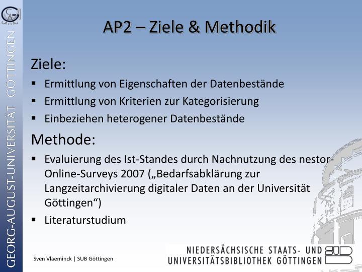 AP2 – Ziele & Methodik