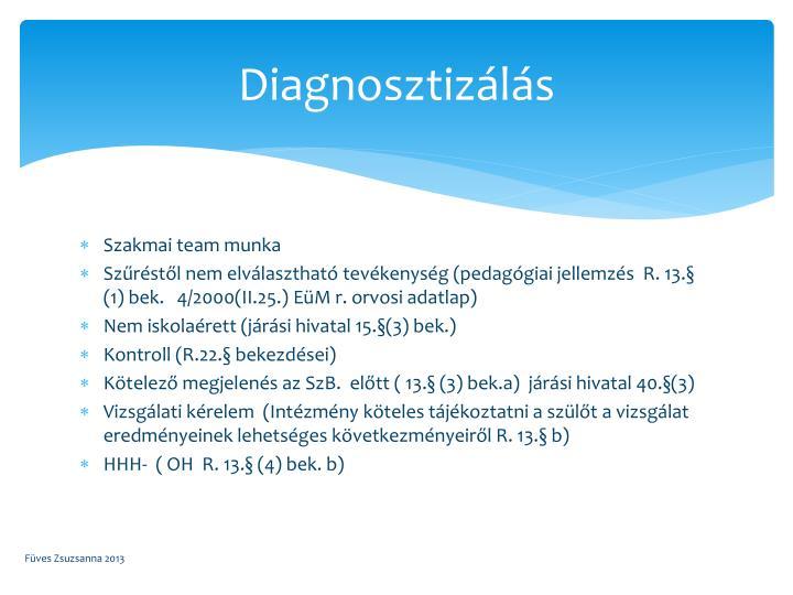 Diagnosztizálás