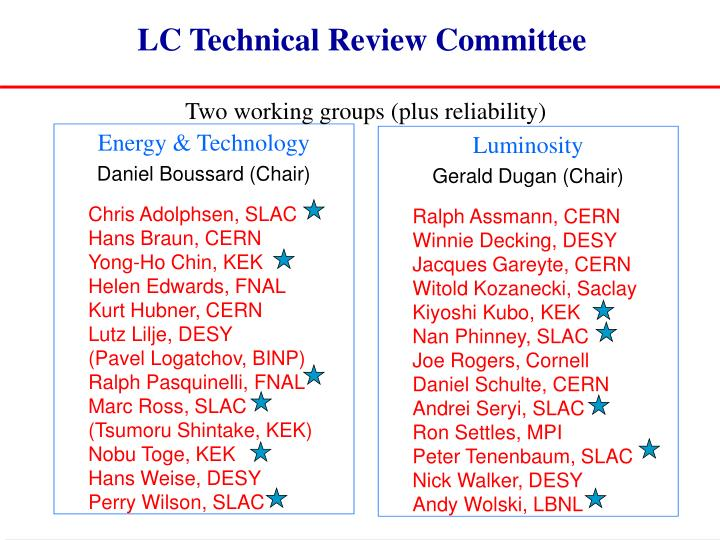 LC Technical Review Committee
