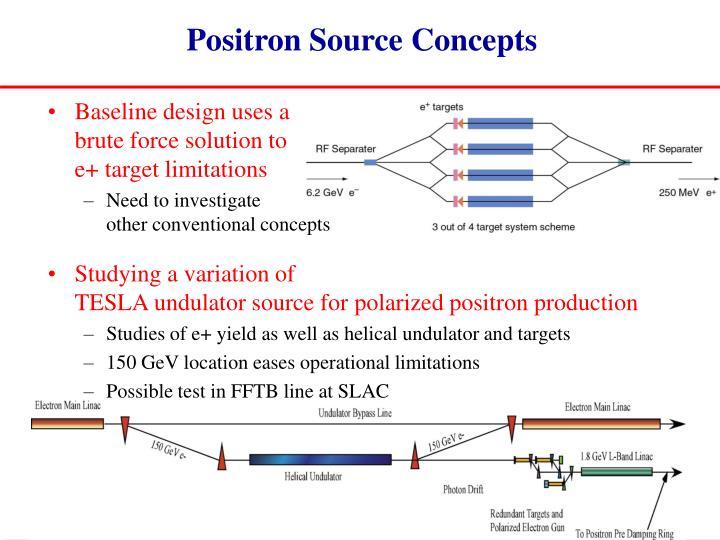 Positron Source Concepts
