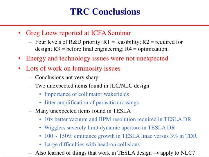 TRC Conclusions