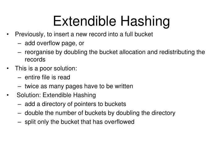 Extendible Hashing