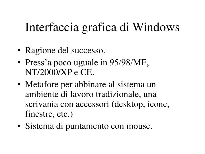 Interfaccia grafica di Windows