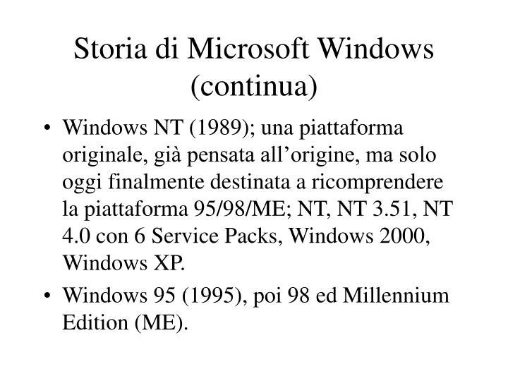 Storia di Microsoft Windows (continua)