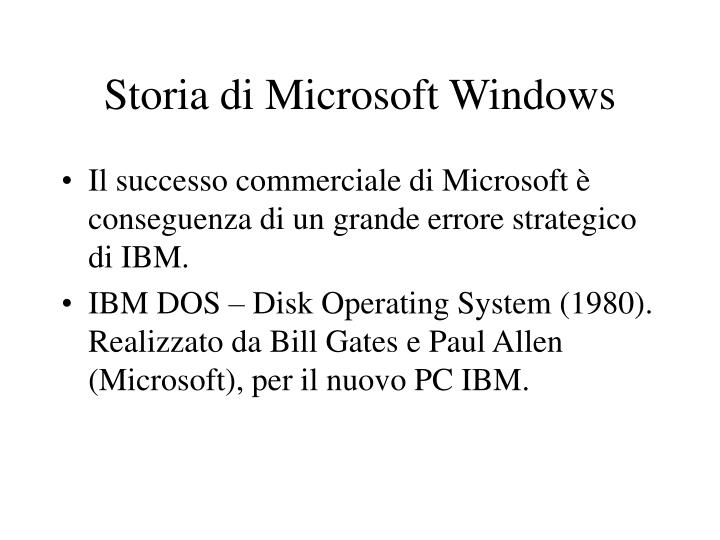 Storia di Microsoft Windows