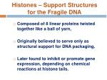 histones support structures for the fragile dna