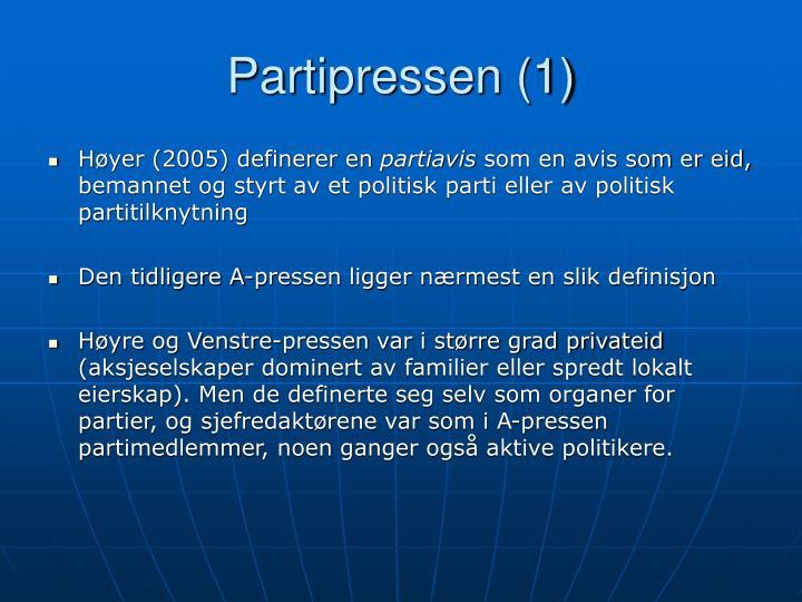 Partipressen (1)