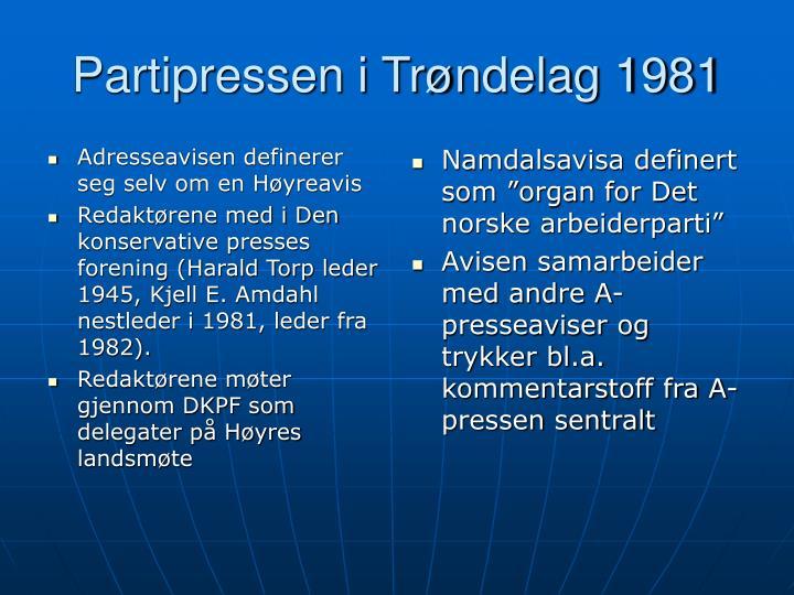 Adresseavisen definerer seg selv om en Høyreavis