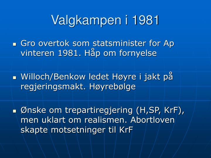 Valgkampen i 1981