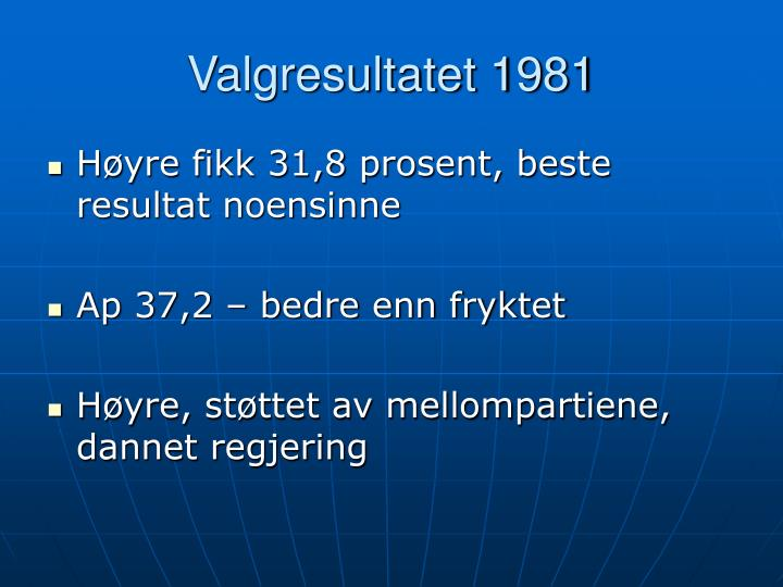 Valgresultatet 1981