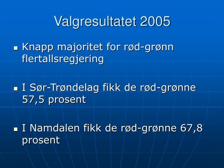 Valgresultatet 2005