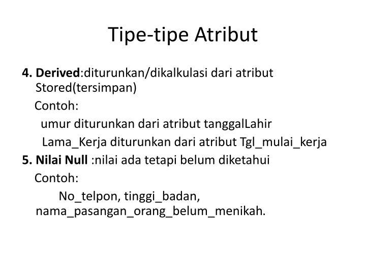 Tipe-tipe