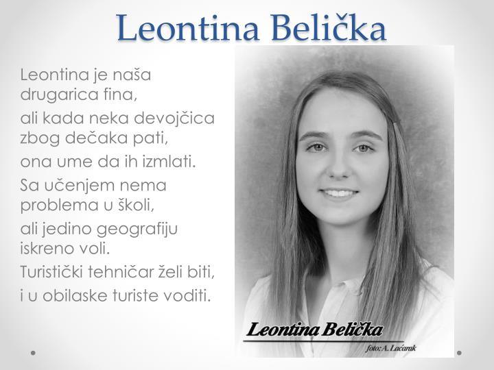 Leontina Belička