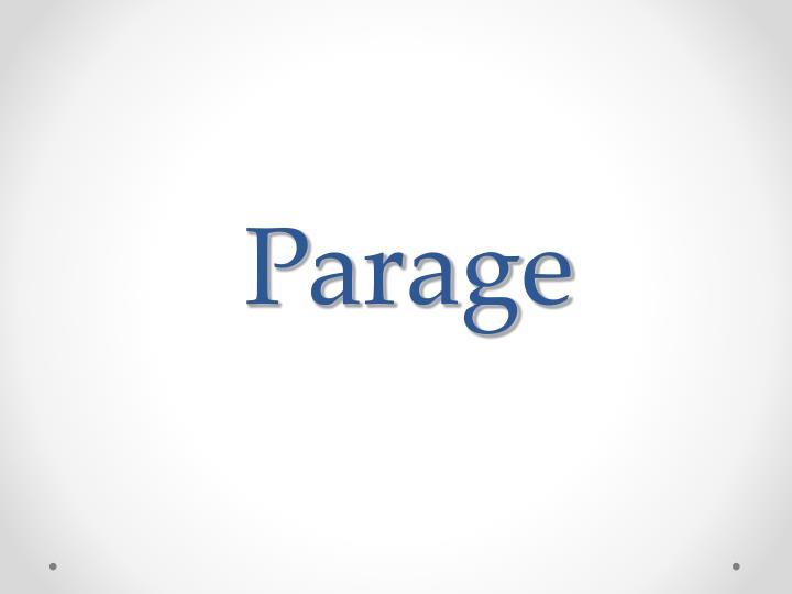 Parage