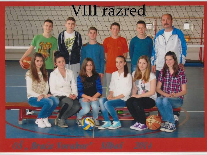 VIII razred