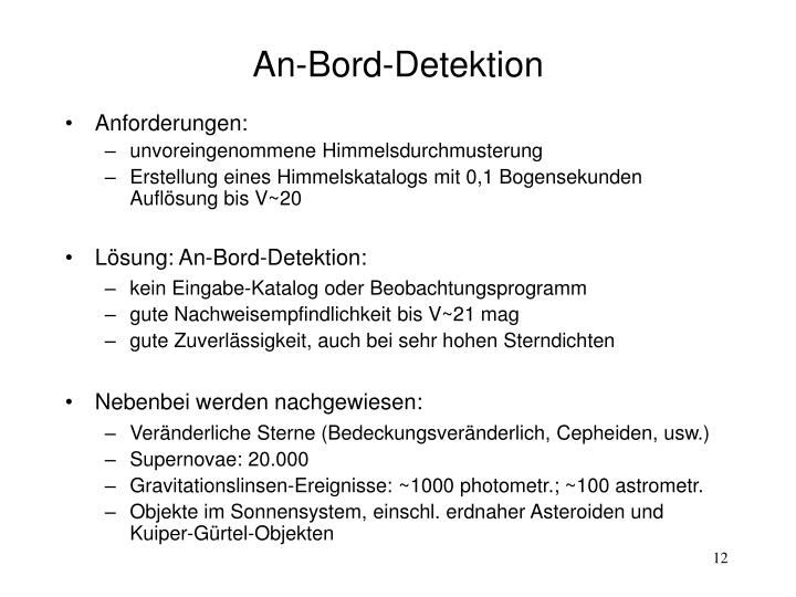 An-Bord-Detektion