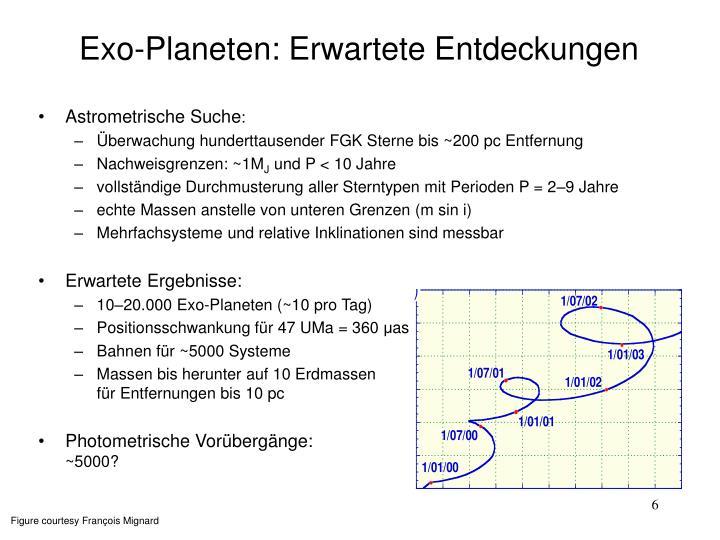 Exo-Planeten: Erwartete Entdeckungen