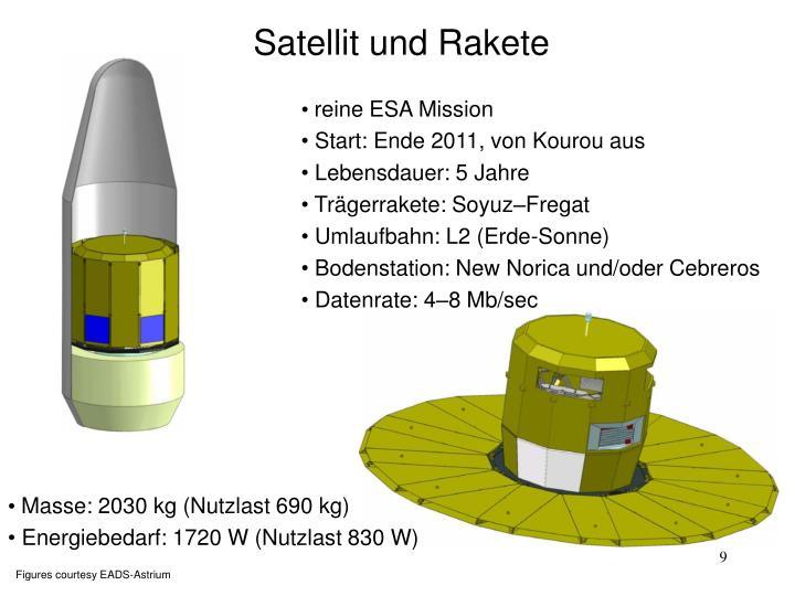 Satellit und Rakete