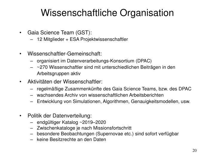 Wissenschaftliche Organisation