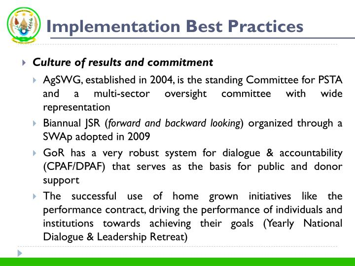 Implementation Best Practices